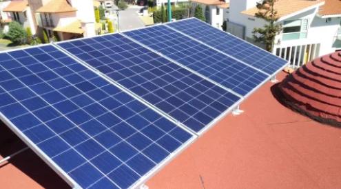 Sistema de 3.84 kWp  Resindecial Zamarrero  Instalado en Zinacantepec, Estado de México
